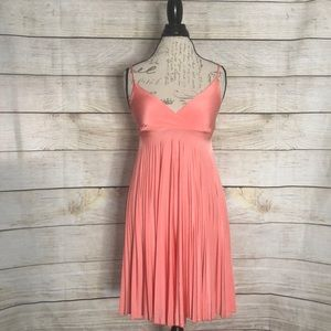 Coral shimmery dress! You will love it!